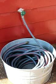 garden hose storage pot. garden hose container storage farmhouse holder pot with