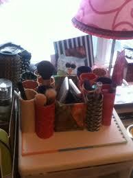 diy bohiemian makeup brush holder using toilet paper rolls fabric empty conner box