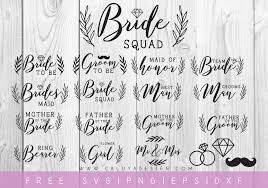 This is a digital product that is sent as a download link after payment. Free Wedding Svg Cut File Bundle By Caluya Design