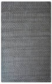 rizzy home technique wool cotton rectangle area rug 5 x 8 dark grey solid modern