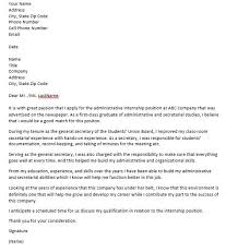 how to write an internship cover letter