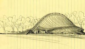 cool architecture drawing.  Architecture Eero Saarinen Used Lined Composition Paper For This Sketch Of Yaleu0027s  Ingalls Rink 1953 On Cool Architecture Drawing