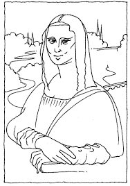 Small Picture Mona Lisa Line Drawing Lovely Mona Lisa Coloring Page 73 On
