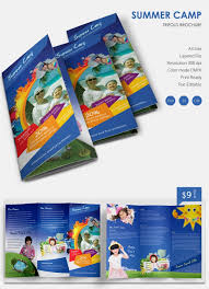 make tri fold brochure 10 amazing camp brochure templates free premium templates