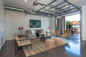 Models Glass Garage Door Living Room 15 Home Garages Transformed Into Beautiful Spaces On Inspiration