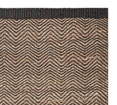 cooper zig zag natural fiber rug swatch black