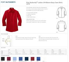 Port Authority Color Chart L612 Port Authority Ladies 3 4 Sleeve Easy Care Shirt Great Expressions Dental Logo Included
