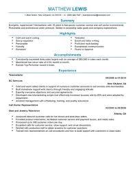 Resume Telemarketing Manager Canadianlevitra Com