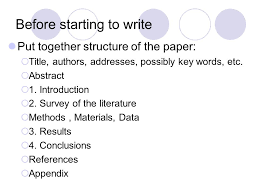 how to write a research paper ppt 2 before starting to write