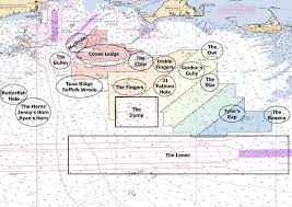 Map Of Popular Recreational Fishing Areas And Current Wind