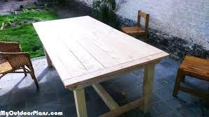 diy outdoor farmhouse table. Diy Outdoor Tables Wood Table Plans . Farmhouse