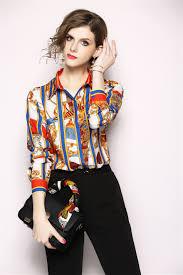 Female Office Shirt Designs 2019 New Arrival 2019 Runway Designer Top Women Long Sleeve Elegant Blousa Brand Spring Ladies Office Shirt Blusas Femininas From Dhh45 20 11