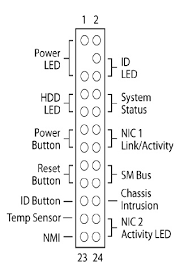 showing intel� server board front panel connector pinout for intel� Computer Motherboard Layout Diagram at Motherboard Wiring Diagram Power Reset