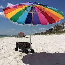 beach umbrella. Brilliant Umbrella Rainbow Beach Umbrella With Carry Bag In