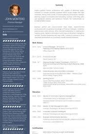 Commercial Finance Manager Sample Resume Stunning Finance Manager Resume Samples VisualCV Resume Samples Database