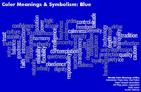 Color Meanings Symbolism Chart Color Meanings Symbolism Chart Blue Algarve Blog