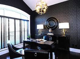 office black.  Black Exquisite Modern Home Office That Is More About Black Than White  Design Atmosphere Interior Inside Office Black F