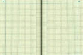 blank engineering notebook opened to page 62 63