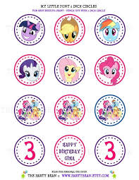 Small Picture My Little Pony Birthday Party Cupcake Toppers Stickers Favor