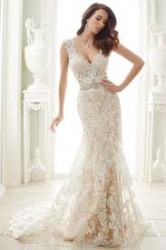court train v neck a line lace sleeveless beading champagne