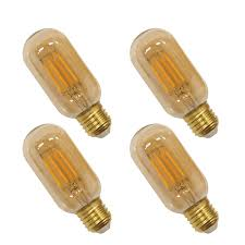 Lamp Shade Over Light Bulb Old Fashioned Edison T14 T45 E26 4w Led Filament Light Bulb Lamp Vintage Led Light Bulbs With Retro Coated Glass Lamp Shade Replace 40w Incandescent