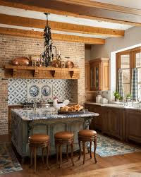 Rustic french country kitchens Decor Enlarge Traditional Home Magazine Country French Kitchens Traditional Home