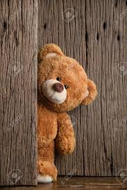 cute teddy bears with old wood background stock photo picture and