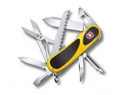 Купить <b>нож перочинный Victorinox EvoGrip</b> S18, черный/ желтый ...