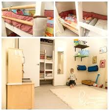 bunk bed with closet check out this cool shared kids room and playroom with a bunk bunk bed with closet