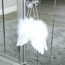 angel wings wall decor feather decoration small hanging white