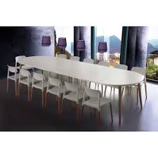 round extending table top in melamine and beech legs dallas