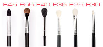 eye makeup brushes guide. without a doubt, the e45 is right shape, and size to apply small quantities of eye shadow base lid. fluffiness brush makeup brushes guide