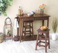 portable kitchen island with stools. Kitchen Furnishing Decoration Ideas Using Rustic Solid Dark Brown Wood Portable Island With Stools T