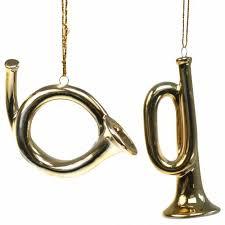 Christbaumschmuck Trompete Und Horn Zum Hängen Gold 95cm 2 St