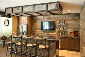 extraordinary basement bar reclaimed wood ideas Basement bar ideas