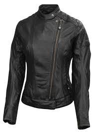 rsd womens riot leather riding jacket black