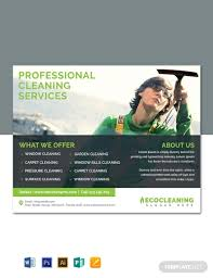 Free Commercial Cleaning Service Flyer Template Word Psd