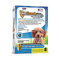 Vetguard Plus Dosage Chart Vetguard Plus Flea Tick Treatment For Small Dogs 5 15 Lbs 4 Month Supply