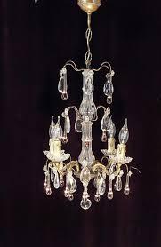 Herrliche Französische Kronleuchter Mit Kristallen Und Rosa Murano Glastropfen