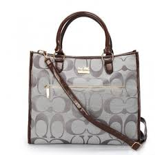 Coach In Signature Large Grey Totes APG