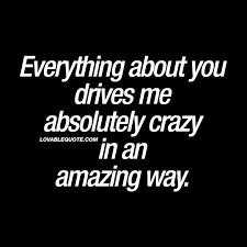 Everything About You Drives Me Absolutely Crazy In An Amazing Way