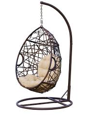 Berkeley Swinging Chair (via Houzz) Don't want to deal with the hanging  tools and hardware? This hanging chair gives you that lounging feel all in  one frame ...