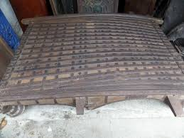 19th century antique huge indian cart coffee table