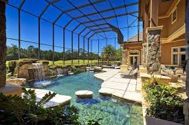 Contemporary Swimming Pool with Pool with hot tub, Indoor pool, French  doors, Transom