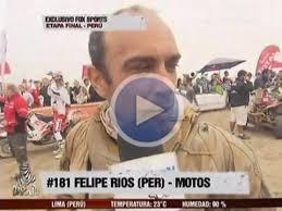 """Felipe Ríos / Captura: Fox Sports. """"Estoy súper contento de llegar a mi casa. Muy emocionado porque está mi familia"""", señaló entusiasmado Vellutino para la ... - felipe-rios-en-dakar"""