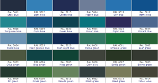 Ral Blue Color Chart Ral Color Chart