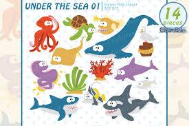 cute sea animals clipart.  Animals Under The Sea Cute Sea Animals Clipart Instant Download Example Image 1 To Sea Animals Clipart