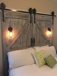 projects diy barn door headboard