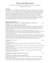 Executive Assistant Career Objective Example Of Administrative Assistant Resume Socialum Co