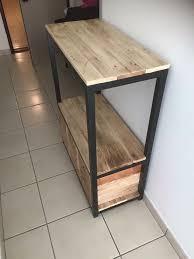 diy metal furniture. Wooden Pallet And Metal Entryway Table Diy Furniture D